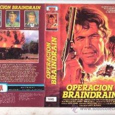 Cine: OPERACION BRAINDAIN-VHS RAREZA/LARRY ELIKANN VHS. Lote 26827567