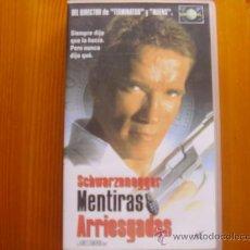 Cine: VHS MENTIRAS ARRIESGADAS (1994) DE JAMES CAMERON. CON ARNOLD SCHWARZENEGGER. COMO NUEVA. Lote 26850470