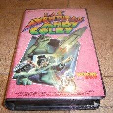 Cine: PELICULA VHS LAS AVENTURAS DE ANDY COLBY RECORD VISION 1989 87`APROX. Lote 27752462