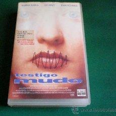 Cine: TESTIGO MUDO. VHS. 026. Lote 27884758