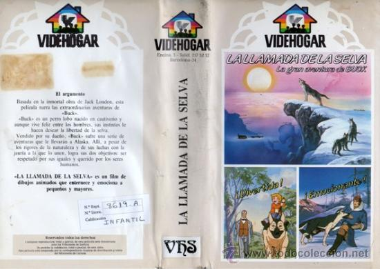 LA LLAMADA DE LA SELVA (ANIME. ANIMACION. DIBUJOS ANIMADOS) (Cine - Películas - VHS)