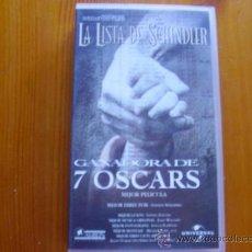 Cine: VHS LA LISTA DE SCHINDLER (1993) DE STEVEN SPIELBERG. CON LIAM NEESON Y RALPH FIENNES. COMO NUEVA. Lote 28454950