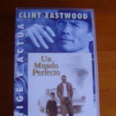 Cine: VHS UN MUNDO PERFECTO (1993) DE CLINT EASTWOOD. CON KEVIN COSTNER Y LAURA DERN. ¡NUEVA!. Lote 28525100