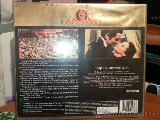 Cine: LO QUE EL VIENTO SE LLEVO en VHS. EDICION COLECCIONISTA. - Foto 3 - 28552934