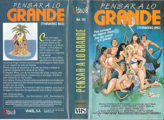 VHS\. PENSAR A LO GRANDE • CINTA DESCATALOGADA. DIR.S.F. BROWNRIGG. AÑO 1986. TEEN MOVIE COM.PICANTE (Cine - Películas - VHS)