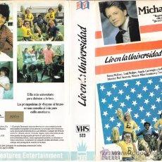 Cine: LIO EN LA UNIVERSIDAD • VIDEO VHS • MICHAEL J. FOX / TEEN MOVIE. Lote 28989064