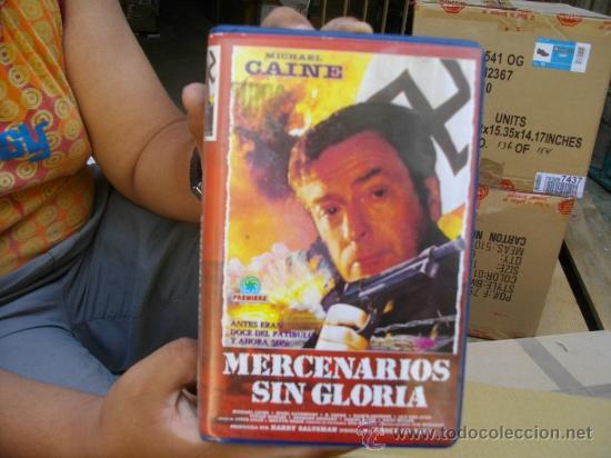 MERCENARIOS SIN GLORIA, MICHAEL CAINE-VHS (Cine - Películas - VHS)