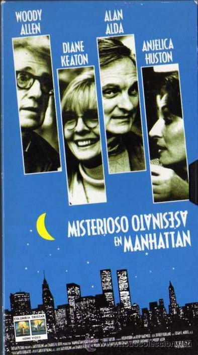 VHS ORIGINAL - MISTERIOSO ASESINATO EN MANHATTAN - WOODY ALLEN / DIANE KEATON / ALAN ALDA (Cine - Películas - VHS)