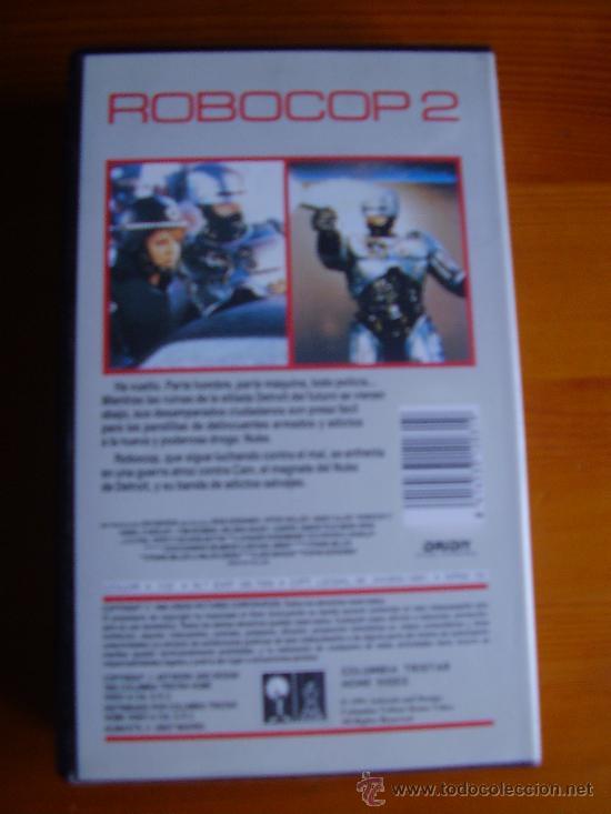 Cine: VHS ROBOCOP 2 (1990) de Irvin Kershner. Con Peter Weller. ¡Nueva! - Foto 2 - 29278355