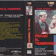 Cine: FRANK EL TEMERARIO • VIDEO VHS. Lote 29345928