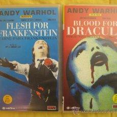 Cine: CARNE PARA FRANKENSTEIN Y SANGRE PARA DRACULA, VHS. ANDY WARHOL. Lote 29638116