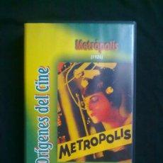 Cine: METRÓPOLIS (1926) FRTZ LANG. COLECCIÓN ORÍGENES DEL CINE. UN SOLO VISIONADO. VHS COMO NUEVO. Lote 29681067