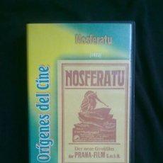 Cine: NOSFERATU (1922) F.W. MURNAU. COLECCIÓN ORÍGENES DEL CINE. UN SOLO VISIONADO. VHS COMO NUEVO. Lote 29681107