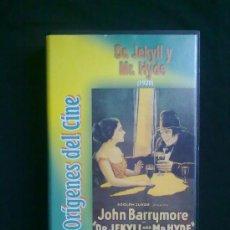 Cine: DR. JEKYLL Y MR. HYDE(1920) JOHN BARRYMORE. ORÍGENES DEL CINE. UN SOLO VISIONADO. VHS COMO NUEVO. Lote 29681139