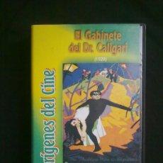 Cine: EL GABINETE DEL DR. CALIGARI(1920) ROBERT WIENE. ORÍGENES DEL CINE. UN SOLO VISIONADO.VHS COMO NUEVO. Lote 29681172