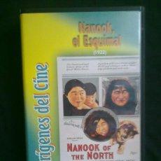 Cine: NANOOK, EL ESQUIMAL (1922) ROBERT J. FLAHERTY. ORÍGENES DEL CINE. UN SOLO VISIONADO. VHS COMO NUEVO. Lote 29681248