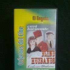 Cine: EL ENGAÑO (1919) ERICH VON STROHEIM.ORÍGENES DEL CINE. UN SOLO VISIONADO. VHS COMO NUEVO. Lote 29681274