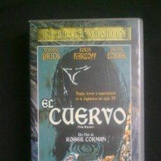 Cine: EL CUERVO. ROGER CORMAN. CON VINCENT PRICE, PETER LORRE, BORIS KARLOFF. VHS UN SOLO VISIONADO. Lote 29682467
