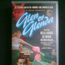 Cine: GLEN OR GLENDA. ED WOOD. CON BELA LUGOSI. V.O.SUBTITULADA. VHS SIN ESTRENAR. Lote 29682530