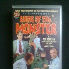 Cine: BRIDE OF THE MONSTER. ED WOOD CON TOR JOHNSON Y BELA LUGOSI. VHS SIN ESTRENAR. Lote 29682546