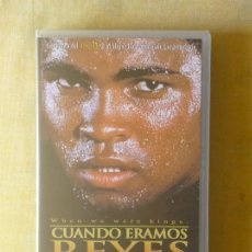 Cine: VHS - CUANDO ERAMOS REYES (1996) PELICULA-DOCUMENTAL DEL BOXEADOR MUHAMMAD ALI. Lote 29821511