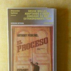 Cine: VHS - EL PROCESO (1962) ORSON WELLES. Lote 29822533