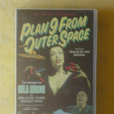 Cine: VHS - PLAN 9 FROM OUTER SPACE (1959) ED WOOD, BELA LUGOSI, VAMPIRA. Lote 29825467
