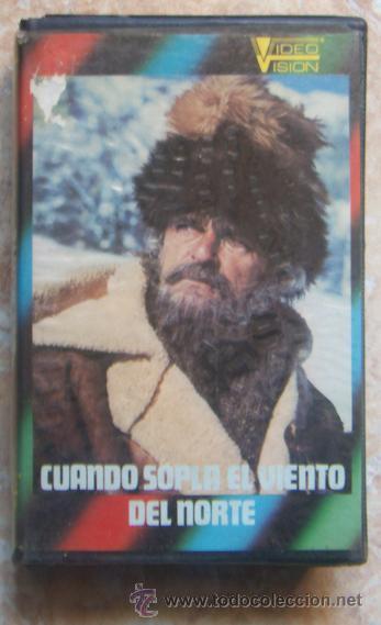 VHS - CUANDO SOPLA EL VIENTO DEL NORTE (1974) RAREZA! (Cine - Películas - VHS)