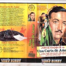 Cine: UNA CARTA DE AMOR/JORGE NEGRETE VHS. Lote 29892499