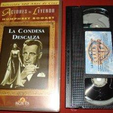 Cine: LA CONDESA DESCALZA AVA GARDNER HUMPHREY BOGART VIDEO VHS. Lote 29927858