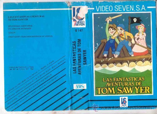 LAS FANTASTICAS AVENTURAS DE TOM SAWYER / DIBUJOS ANIMADOS RAREZA (Cine - Películas - VHS)