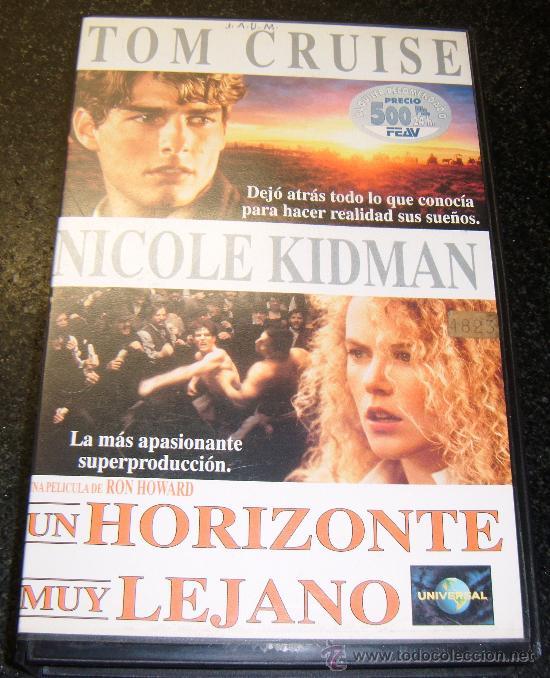 UN HORIZONTE MUY LEJANO CON TOM CRUISE Y NICOLE KIDMAN AÑO 1993 (Cine - Películas - VHS)