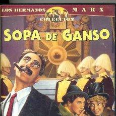 Cine: LOS HERMANOS MARX / SOPA DE GANSO (VHS). Lote 30322171