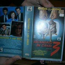 Cine: ESCANDALO EN EL CANAL 3/VHS. Lote 30364702