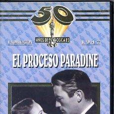 Cine: EL PROCESO PARADINE / GREGORY PECK (VHS). Lote 30473730