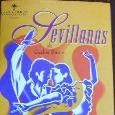 Cine: PELICULA EN CINTA DE VIDEO VHS, SEVILLANAS DE CARLOS SAURA. Lote 30520660