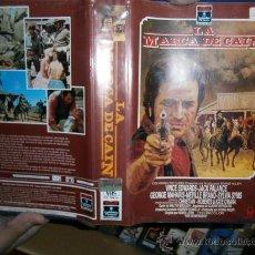 Cine: VHS LA MARCA DE CAIN - JACK PALANCE - VINCE ADWARDS. Lote 30538665