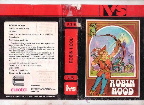 ROBIN HOOD /VHS DIBUJOS ANIMADOS RAREZA 1 EDICION (Cine - Películas - VHS)