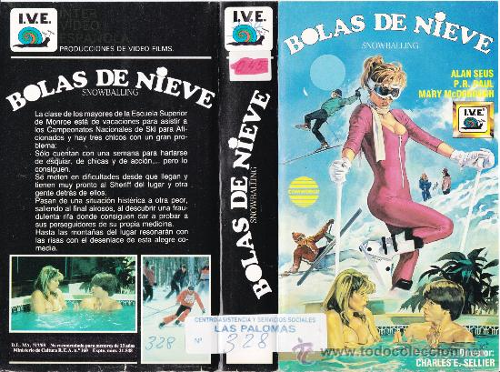 VHS • BOLAS DE NIEVE • TEEN MOVIE • CINTA DESCATALOGADA • CHARLES E. SELLIER • AMERICANADA SEXY (Cine - Películas - VHS)