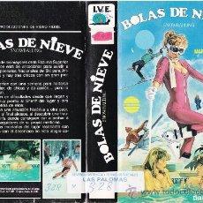 Cine: VHS • BOLAS DE NIEVE • TEEN MOVIE • CINTA DESCATALOGADA • CHARLES E. SELLIER • AMERICANADA SEXY. Lote 31195244