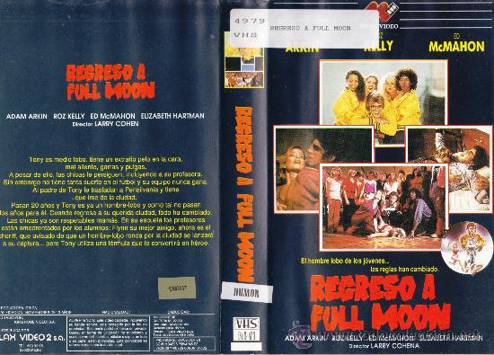 VHS • REGRESO A FULL MOON. EL HOMBRE LOBO DE LOS JOVENES • DESCATALOGADA • TEEN MOVIE • RARÍSIMAAAAA (Cine - Películas - VHS)