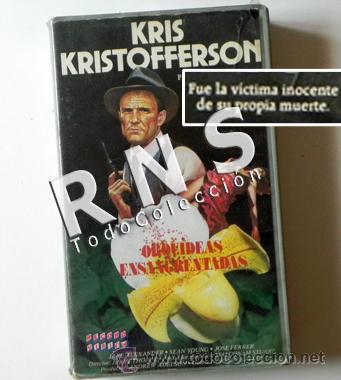 ORQUÍDEAS ENSANGRENTADAS - PELÍCULA VHS - KRIS KRISTOFFERSON - POLICÍA SUSPENSE RACISMO CINE +13 (Cine - Películas - VHS)