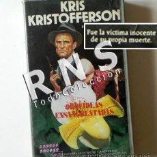 Cine: ORQUÍDEAS ENSANGRENTADAS - PELÍCULA VHS - KRIS KRISTOFFERSON - POLICÍA SUSPENSE RACISMO CINE +13. Lote 39500327