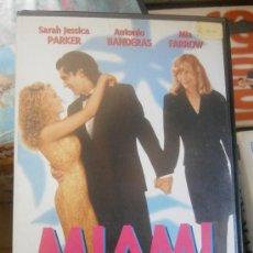 Cine: MIAMI-ANTONIO BANDERAS-VHS. Lote 31909853
