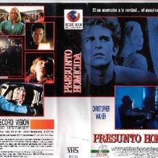 Cine: PRESUNTO HOMICIDA-VHS. Lote 32080207