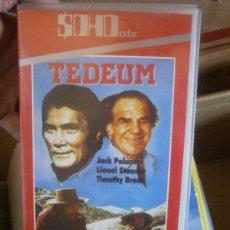 Cine: VHS TEDEUM - SPAGUETTI WESTERN - ENZO G CASTELLARI -JACK PALANCE . Lote 32272014