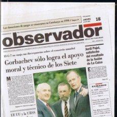 Cine: CINTA VHS - EL OBSERVADOR - JULIOL 1991 - LES NOTÍCIES DE L'ANY. Lote 33072164