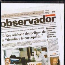 Cine: CINTA VHS - EL OBSERVADOR - JUNY 1991 - LES NOTÍCIES DE L'ANY. Lote 33072171