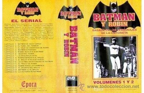 Batman y robin el serial 1949 vhs doble!!!!!!!! - Vendido en