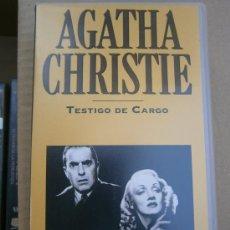 Cine: AGATHA CHRISTIE-TESTIGO DE CARGO.VHS. Lote 33228008